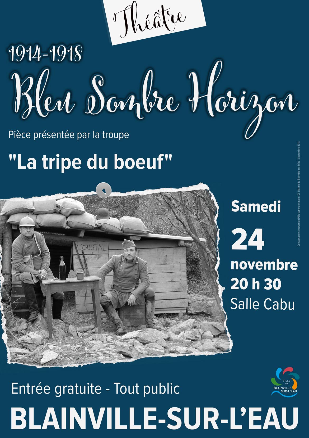 Théâtre 1914-1918 Bleu Sombre Horizon - Blainville-sur-l'Eau