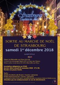 CCAS sortie au marché de Noël de Strasbourg