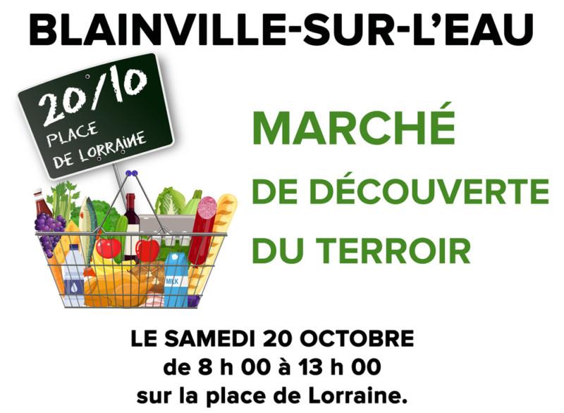 Marché découverte du terroir Blainville-sur-l'Eau
